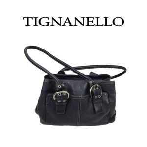 Tignanello Navy Blue Handbag
